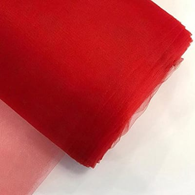 """54"""" Tulle (Bolt, 40 Yards) Red"""