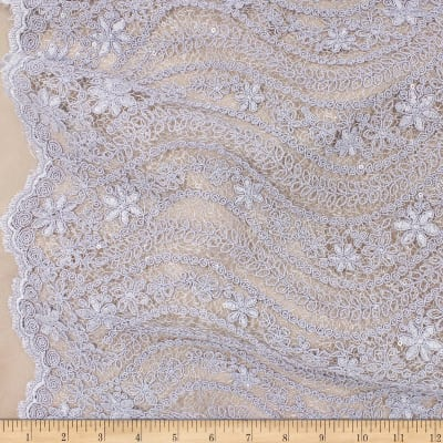Telio Nellie Sequin Embroidered Lace Periwinkle
