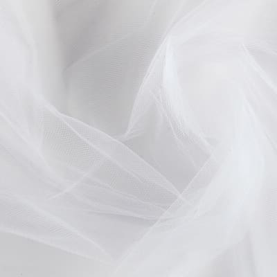 "54"" Polyester Tulle (Bolt, 40 Yards) White"