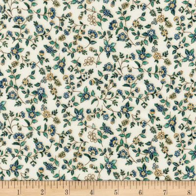 Kaufman Calista Pearl Small Flowers Natural