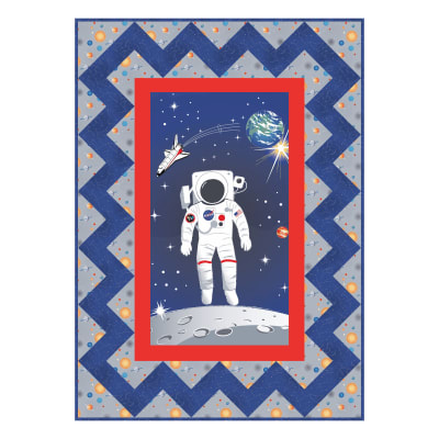 "Riley Blake Designs Out Of This World With NASA Official NASA Spaceman 45.5"" x 61.5"" Quilt Kit Multi"
