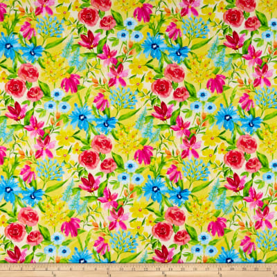 Wilmington Bloom True Large Floral Yellow