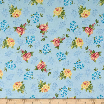 Romantique Digital Print Floral Blue