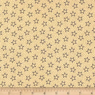 "Patriotic 108"" Quilt Backs Star Dot Navy/Antique"