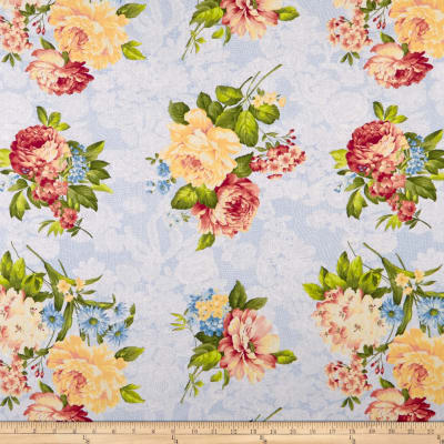 Romantique Digital Print Floral Blue/Yellow