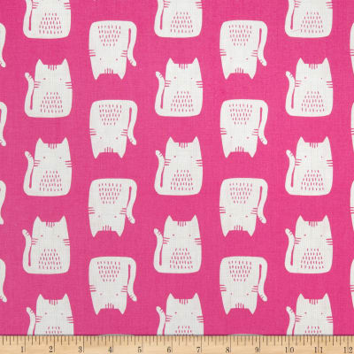 Andover Cats and Dogs Cats Pink