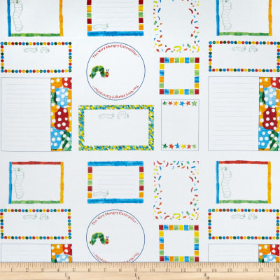 Andover Very Hungry Caterpillar 50th Anniversary Labels White