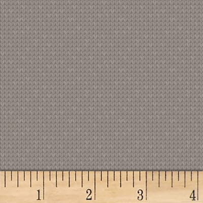Clothworks Fair Isle Friends Tonal Dark Taupe