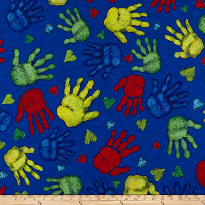Susan Winget School is Cool Hand Prints Eco Canvas Blue