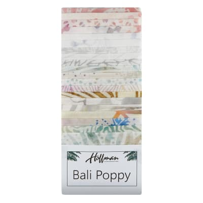 "Hoffman Bali Batik Poppies 3rd Generation 2.5"" Strip Pack Taffy"