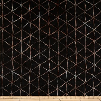 Hoffman Bali Batik Triangle Grid Blacklight