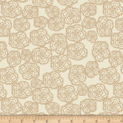Stof Fabrics Denmark Five O'Clock Tea Lacey Floral Dusty
