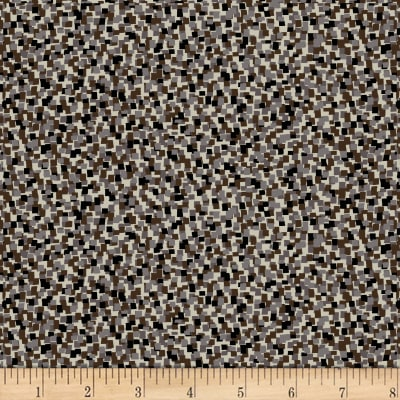 Stof Fabrics Denmark Live City By Hoodie Dot Texture Dark Brown