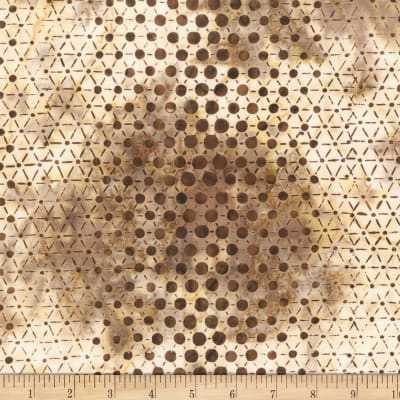 Anthology Batiks Specialty Pop Dots Coffee