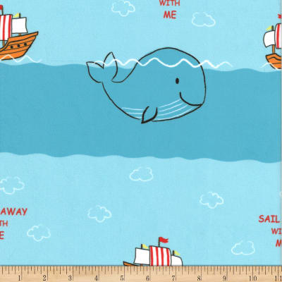 Michael Miller Minky Ready, Set, Sail  Ready, Set, Sail Blue