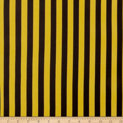 Double Brushed Poly Jersey Knit Bengal Stripes Mustard/Black