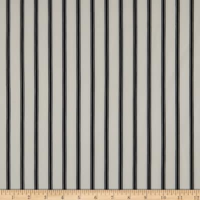 Techno Scuba Knit Vertical Stripe Ivory