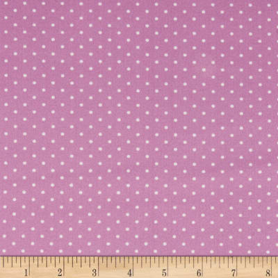 Techno Scuba Knit Small Polka Dot Lavender