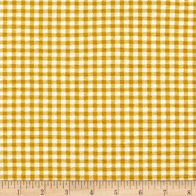 California Stretch French Terry Gingham Mustard