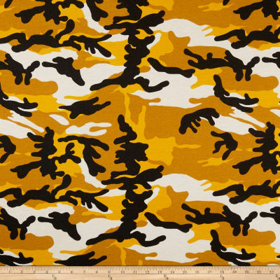 California Stretch French Terry Camouflage Mustard