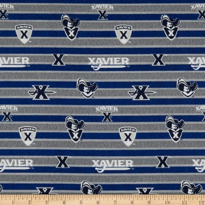 NCAA Xavier Polo Stripe Blue/Grey