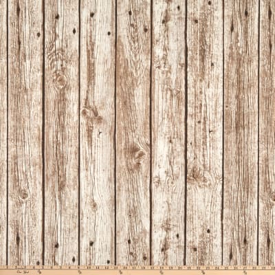 ArtCo Prints Canvas Fence Brown