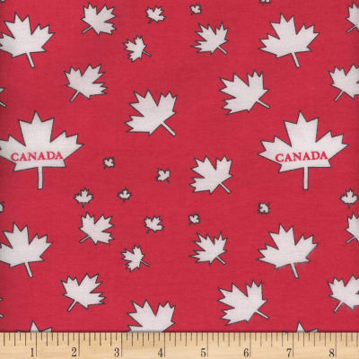 Flannel Canada Leaf Red