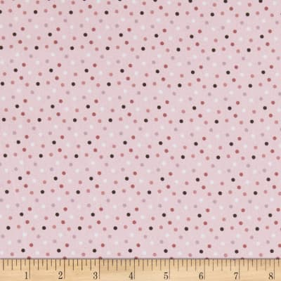 Stof Fabrics Denmark Zoo Around Dots Rose