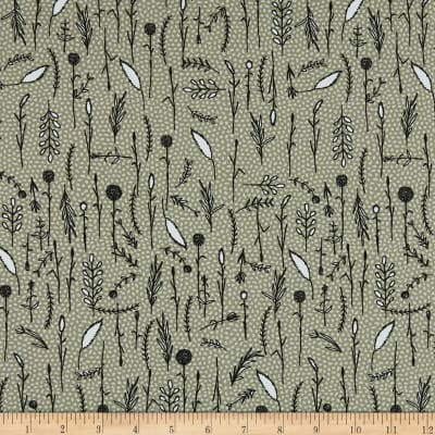 Stof Fabrics Denmark Wolly Bear Nature Olive