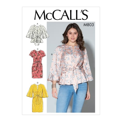 McCall's M7803 Misses' Tops and Dresses E5 (Sizes 14-22)