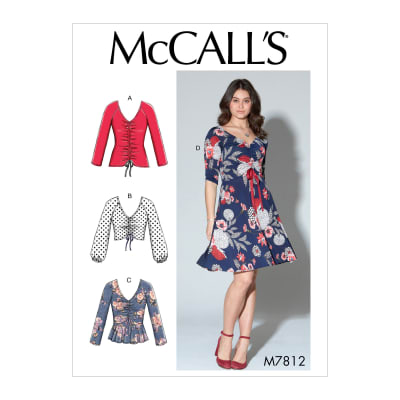 McCall's M7812 Misses' Tops and Dress Y (XSM-SML-MED)
