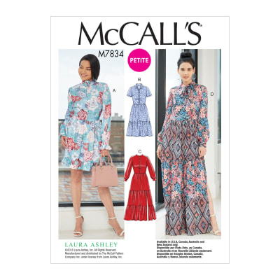 1960s Sewing Patterns | 1970s Sewing Patterns McCalls M7834 Misses Dress Pattern A5 (Sizes 6-14) $13.58 AT vintagedancer.com