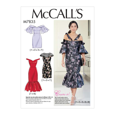 McCall's M7835 Mcc Misses Dress Pattern E5 (Sizes 14-22)
