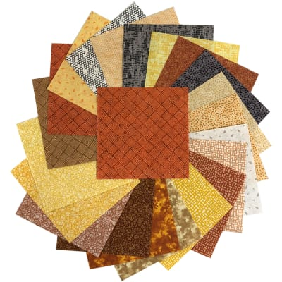 "Sit 'n Sew Precut Quilters Stash 5"" Square 42 Pcs. Fall Blender"
