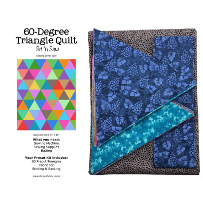 Sit 'n Sew Quilters Stash Triangle Quilt Kit 1 Blender