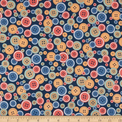 Windham Crafters Gonna Craft Whistler Buttons Navy