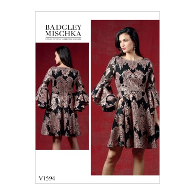 Vogue V1594 Misses' Dress Pattern A5 (Sizes 6-14)