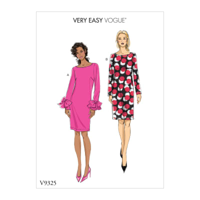 Vogue V9325 Misses' Dress Pattern A5 (Sizes 6-14)