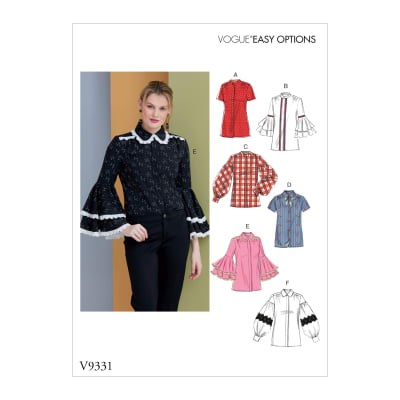 Vogue V9331 Misses' Top Pattern (Sizes 14-22)
