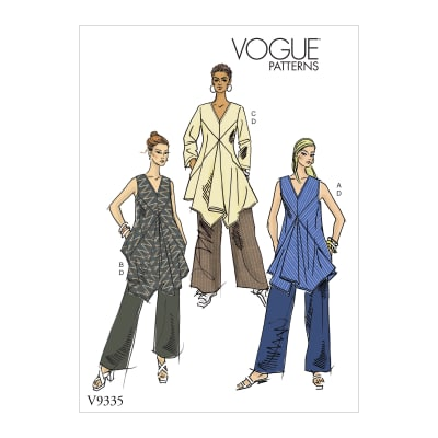 Vogue V9335 Misses' Sportswear Pattern A5 (Sizes 6-14)