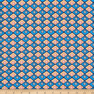 Paintbrush Studio Fabrics Ubuntu Diamond Weave Blue/Yellow/Pink