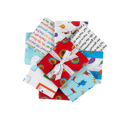 Kaufman Fat Quarter Bundle Oh the Places You'll Go!