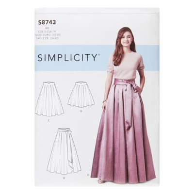 Simplicity 8743 Misses' Pleated Skirts H5 (Sizes 6-14)