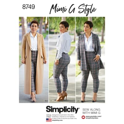 Simplicity 8749 Misses'/Women's Mimi G Style Coat and Pants BB (Sizes 20W-28W)