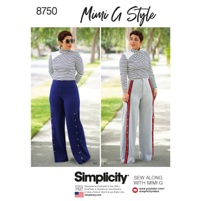 Simplicity 8750 Misses' Mimi G Style Top and Wide-Leg Pants U5 (Sizes 16-24)