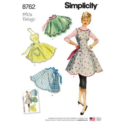 10 Things to Do with Vintage Aprons Simplicity 8762 Misses Vintage Aprons A (S-M-L) $13.77 AT vintagedancer.com