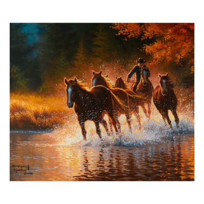 """Back In The Saddle Making Waves Panel 43"""" X 36"""""""