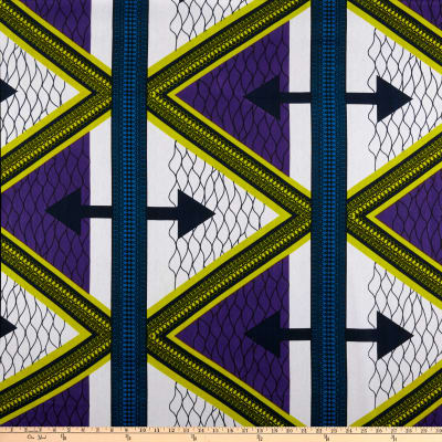 Shawn Pahwa African Print Qiniso Purple/White