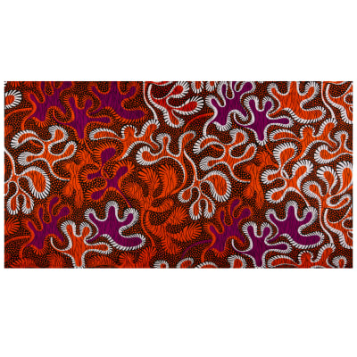Shawn Pahwa African Print Ejaj Orange/Purple