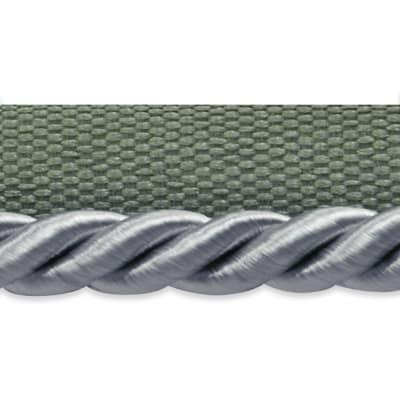 """Emmerson 1/4"""" Twisted Lip Cord Trim Gray"""